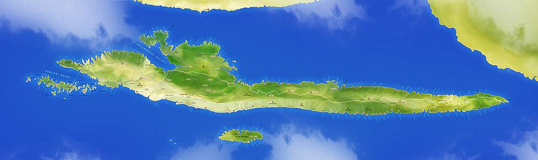 Insel Hvar Karte